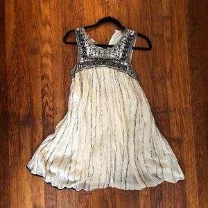 Free people brand cream sequin cotton dress